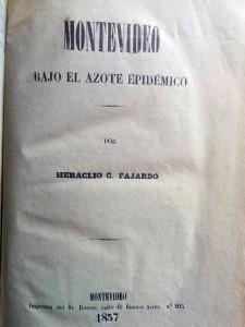 Portada del libro de Heraclio C. Fajardo, editado en Montevideo, en 1857.