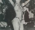 Katy, la única, en los corsos de la plaza Varela, año 1987.