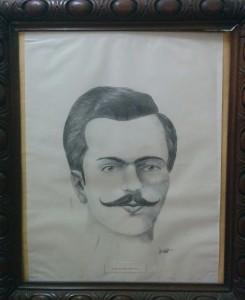 Retrato de Ortiz; por el Procurador Dr. Juan Antonio Larrea (1988)