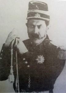 Sarmiento, con uniforme militar de teniente coronel (1852).