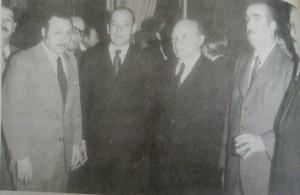 El Dr. Falabella, en compañía de otros dirigentes políticos, del conservadorismo argentino.