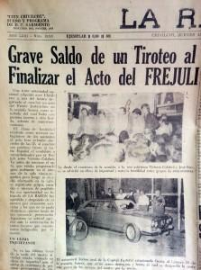 """La crónica periodística del diario """"La Razón"""" del jueves 15 de febrero de 1973."""