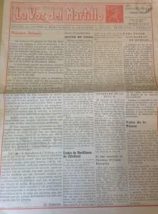 """Diario """"La Voz del Martillo"""" (febrero de 1969)"""