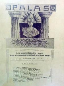 """Carátula de la revista """"Palas"""", aparecida el 21 de septiembre de 1915. La editaban los alumnos de la Escuela Normal."""