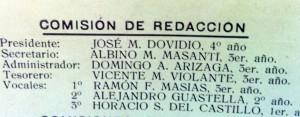 """Los redactores de la revista """"Palas""""(1915)"""