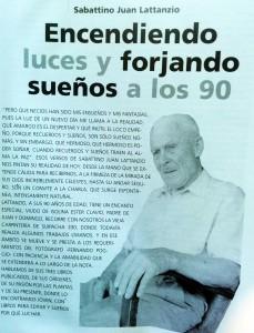 Sabatino Juan Lattancio, fallecido a los 100 años de edad.