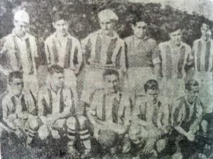 Equipo futbolístico del club Sportivo Buenos Aires,campeón invicto de 1935.