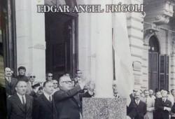 Portada del libro,  del periodista, escritor e investigador, profesor José E. Yapor, sobre Edgar Ángel Frígoli, intendente municipal de Chivilcoy, entre 1973 y 1976.