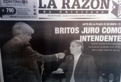 El actual Intendente Municipal, Dr. Guillermo Alejandro Britos, oriundo de la localidad de Moquehuá.