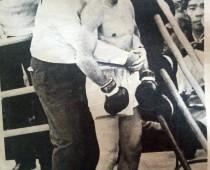 Héctor Vaccari (Manager) y el boxeador Horacio Accavallo