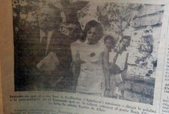Homenaje a Boris Elkin (Diario La Razón del  martes 19 de enero de 1971)