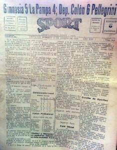 "Periódico ""Sport"" (Agosto de 1945)"