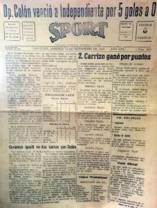 "Periódico ""Sport"" (Septiembre de 1945)"