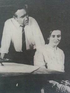Horacio Cerani, junto a la actriz Elena Boggan