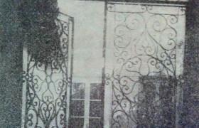 "Portal y reja de entrada, de la ""Casa de la Lira"""