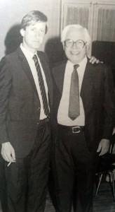 Edgar Frígoli, junto al ex intendente municipal, Dr. Jorge Adalberto Juancorena