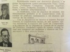 Una publicación, sobre el Conservatorio de Música, del mes de noviembre de 1963.