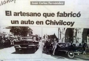 Artesano de Chivilcoy, que fabricó un automóvil.