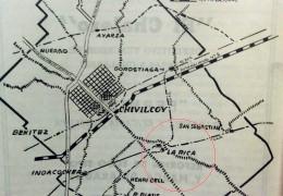 Ubicación geográfica de La Rica, dentro del partido de  Chivilcoy