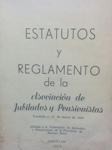 """Estatutos de la Asociación de Jubilados y Pensionados """"Eduardo Albalat"""" (Año 1973)"""