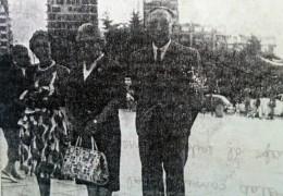 El Dr. Julio Argentino Fernández Coria (1899-1976), junto a su esposa e hija y nieto.