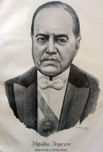 Retrato del Dr. Hipólito Yrigoyen (1852-1933), ex presidente de la Nación, desde 1916 hasta 1922, y entre 1928 y 1930.