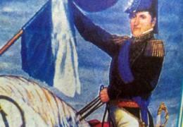 Imagen ecuestre del General Belgrano