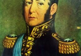 El General José de San Martín (1778-1850), glorioso Libertador de América.