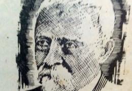 """Don Carlos Augusto Fajardo (1830-1920), fundador del periódico """"La Campaña"""", y primer escribano público de Chivilcoy."""