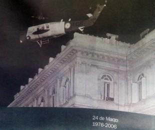 Helicóptero, fotografía emblemática, de la detención de la ex presidenta de la Nación, María Estela Martínez de Perón