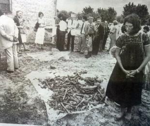 Fosas comunes, con restos óseos, de personas desaparecidas, sepultadas N.N, descubiertas en 1984.