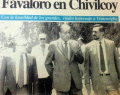 Visita del Dr. Favaloro, en noviembre de 1994.