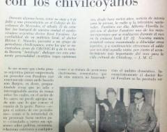 Visita del Dr. Favaloro, a Chivilcoy, en octubre de 1977.