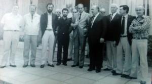 El Dr. Favaloro, en el Hospital Municipal (Noviembre de 1986).