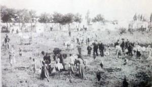 Antiguo cementerio de Chivilcoy, que construyó la Corporación Municipal, en 1865.