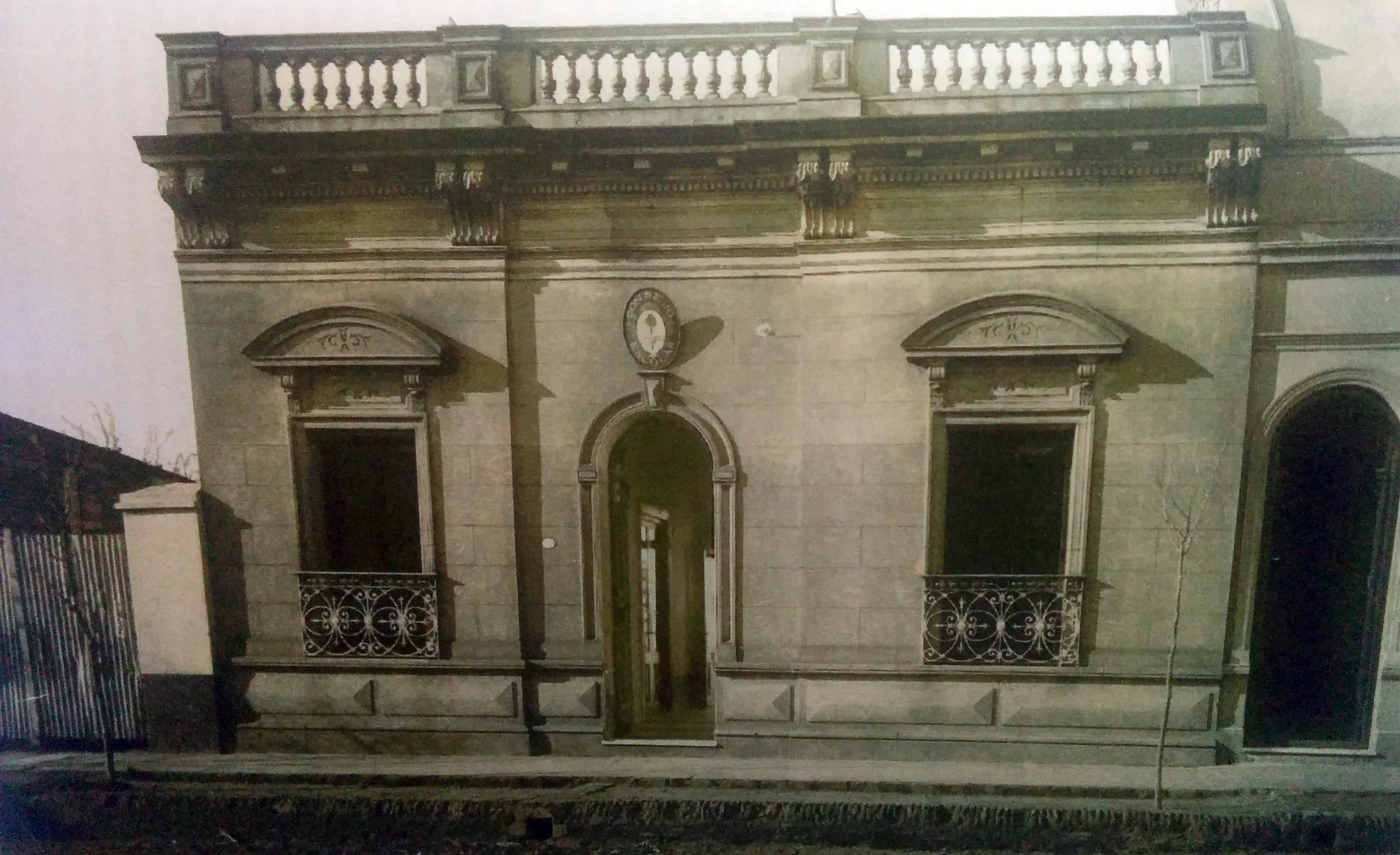 Vieja estampa fotográfica del Concejo Escolar (1901)