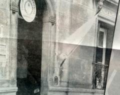 Vieja estampa fotográfica del Concejo Escolar