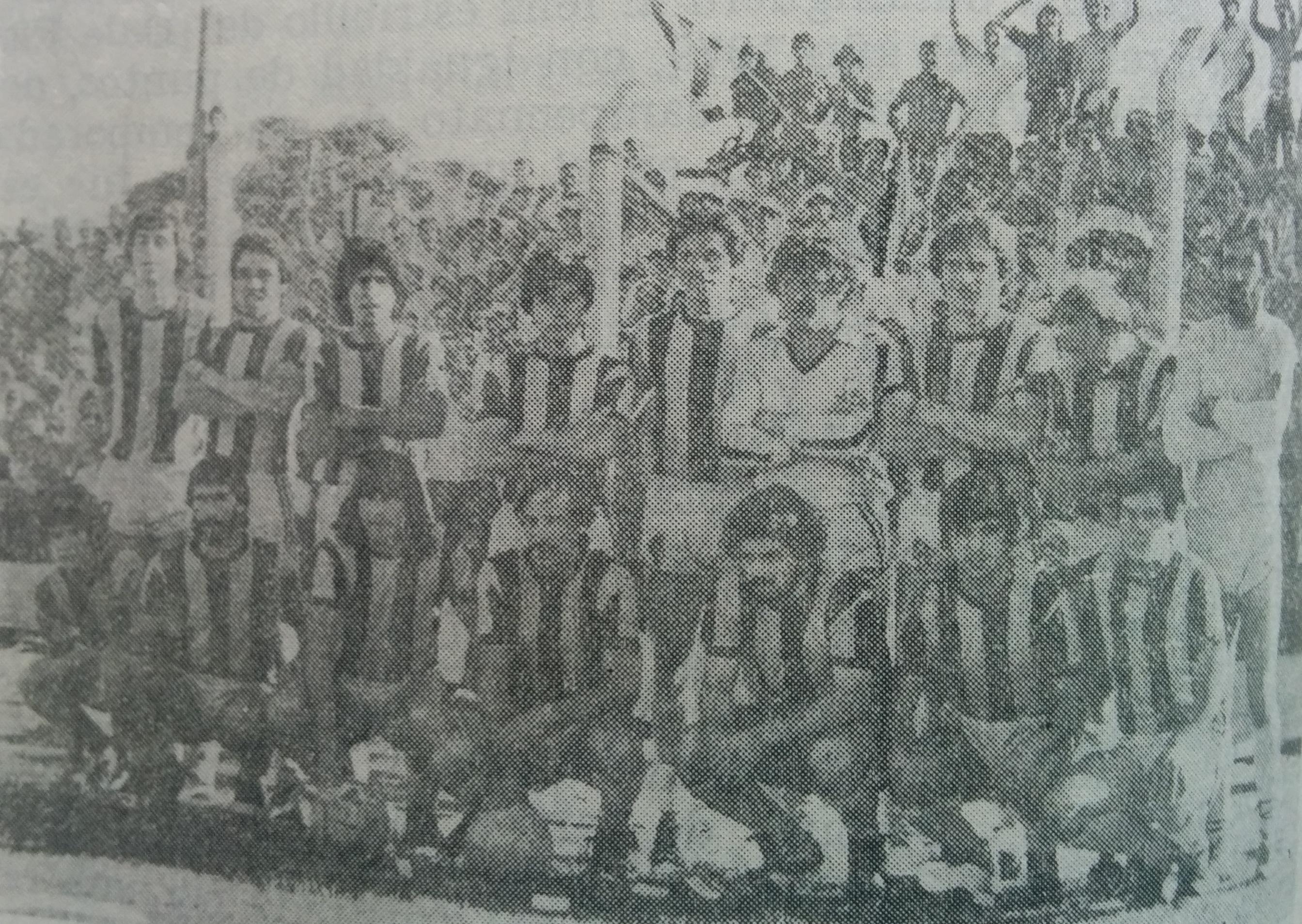 Equipo del club Varela, de 1980.