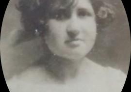 "La docente,Luzgeria Cerezo de Abbene (1904-1977), directora de la Escuela Nº 31 ""Juan Mantovani"""