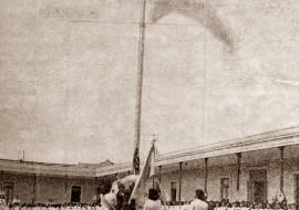 El mástil de la Escuela, Inaugurado el 11 de abril 1940.