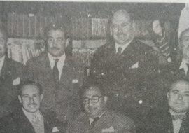 Comisión directiva del Centro Socialista, en 1963.
