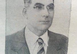 José María Paz, ilustre fundador y primer presidente del club Gimnasia y Esgrima, y asimismo, profesor en la Escuela Industrial de Chivilcoy