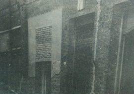 Antigua fachada del club Villarino, en una etapa de demolición. (Década de 1970)