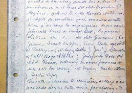 Acta fundacional, de la Asociación Basquetbol Chivilcoy, del 21 de abril de 1934.