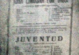Debut del elenco dramático, de la Agrupación Artistica, el 25 de Junio de 1916.