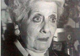 La actriz Blanca A. Pérez de García (1918-2011), ex presidenta de la Agrupación Artística.