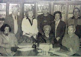 Comisión directiva de la Agrupación Artística, en la década de 1990.