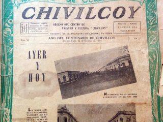 Número extraordinario, del periódico «Chivilcoy», publicado en octubre de 1954, con motivo del centenario de nuestra ciudad.