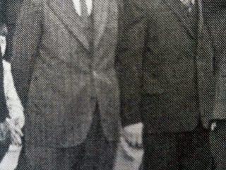 Dr. Héctor Genaro Trezza (1918-1996), primer director del Centro Regional de la Universidad Nacional de Luján. (En la fotografía el primero de la izquierda)