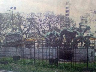 Grupo escultórico «Canto al Trabajo», del gran escultor argentino, Rogelio Yrurtia.